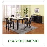 FAUX MARBLE PUB TABLE
